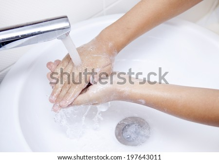 hand washing - stock photo