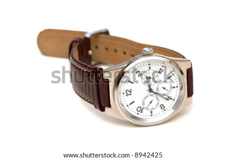 Hand watch isolated on the white background