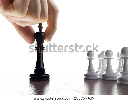 Hand with chess