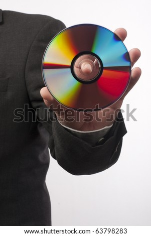 hand with disc close up - stock photo