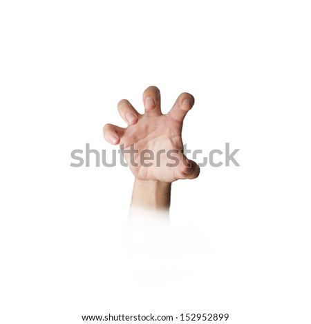 hand with grab gesture - stock photo