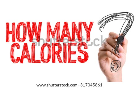 Hand with marker writing: How Many Calories? - stock photo