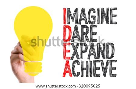 Hand with marker writing: Idea Acronym - stock photo