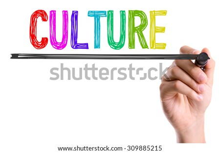 Hand with marker writing the word Culture - stock photo