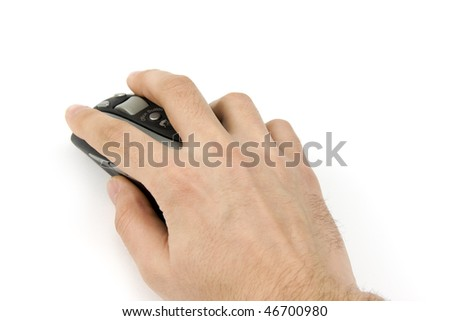 hand with mous - stock photo