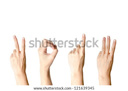 hand with new year number 2013 isolated - stock photo