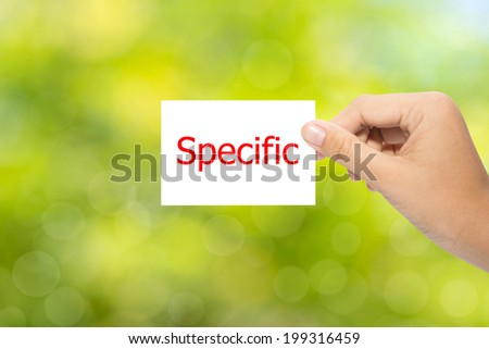 Hand with paper Specific - stock photo