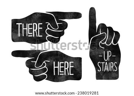 Hand with pointing finger  - stock photo