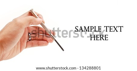 Hand with Screwdriver Tool
