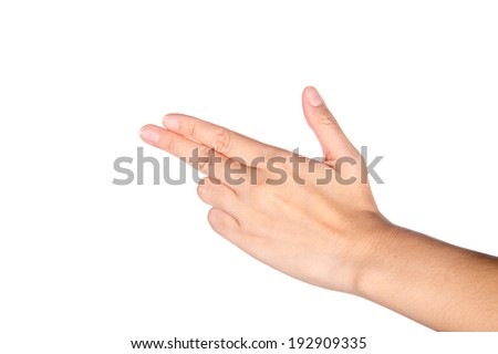 Hand with three finger - stock photo