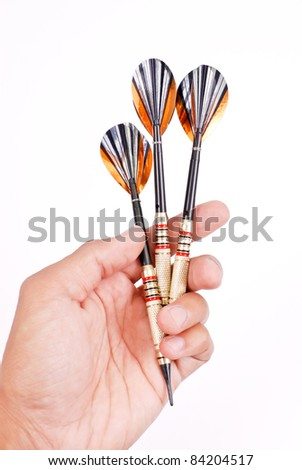 Hand With Three Professional Darts