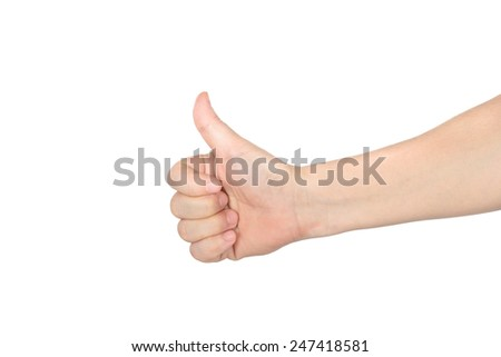 hand with thumb up isolated