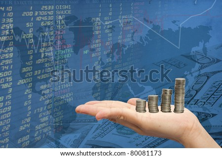 hand women and the stock trades. - stock photo