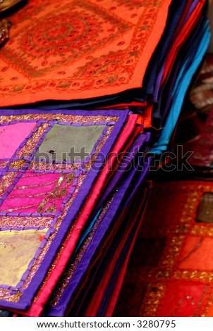 hand woven art - stock photo