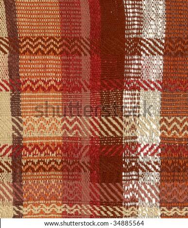 Hand woven fabric 4 - stock photo