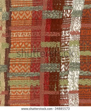 Hand woven fabric 7 - stock photo