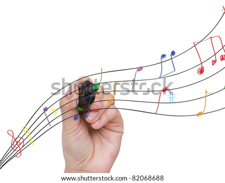 Hand write colorful note isolate on white background - stock photo