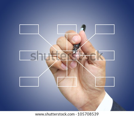 Hand write diagram - stock photo