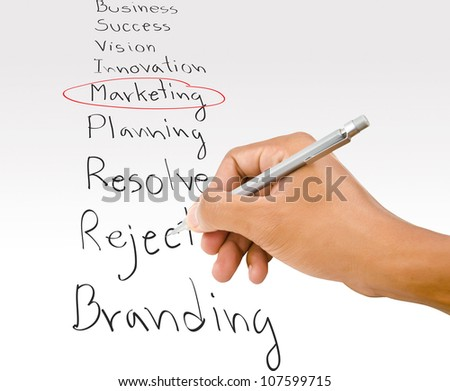 Hand write Reject word on the whiteboard. - stock photo