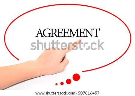 Hand Writing Agreement Abstract Background Word Stock Photo