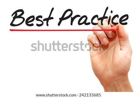 Hand writing Best Practice with red marker, business concept - stock photo
