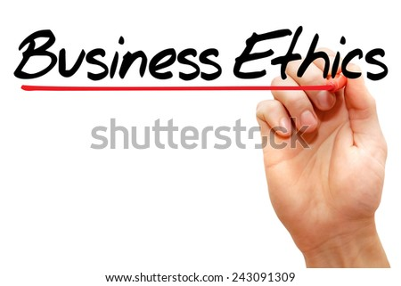 Hand writing Business Ethics with marker, business concept  - stock photo