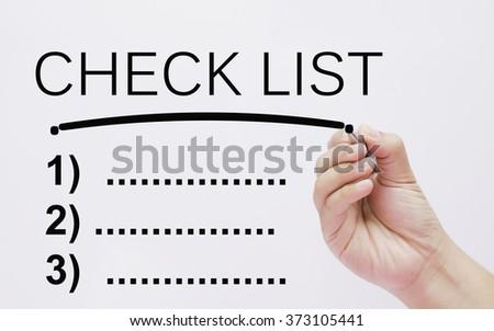 hand writing check list - stock photo