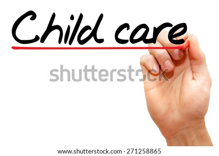 Hand writing Child Care with marker, concept - stock photo