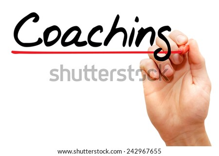 Hand writing Coaching with marker, business concept  - stock photo