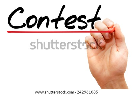 Hand writing Contest with marker, business concept - stock photo