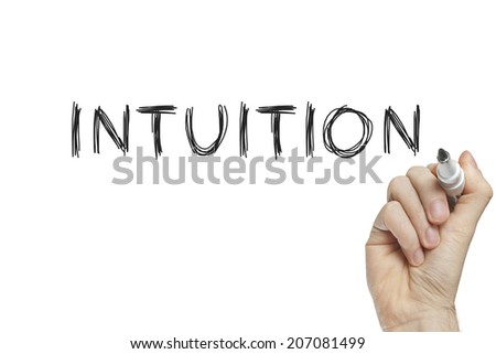 Hand writing intuition on a white board