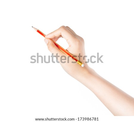 Hand writing isolated on the white background.