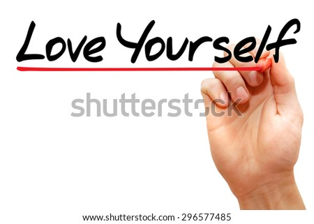 Hand writing Love Yourself with marker, business concept - stock photo