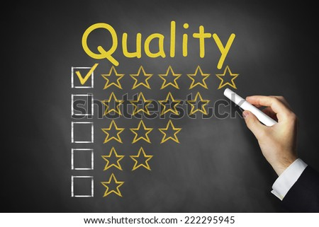 hand writing quality on chalkboard rating stars