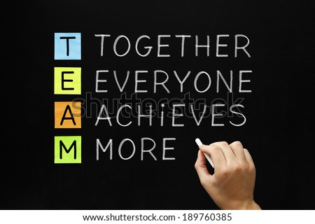Together Everyone Achieves More Stock Images, Royalty-Free ...  Teamwork Spellen