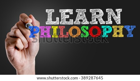 Hand writing the text: Learn Philosophy - stock photo