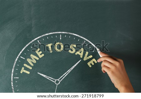 Hand writing Time to Save - stock photo