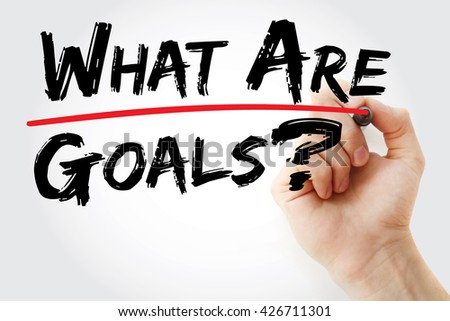 Hand writing What are your goals? with red marker, business concept