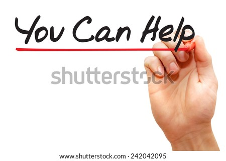 Hand writing You Can Help with red marker, business concept - stock photo