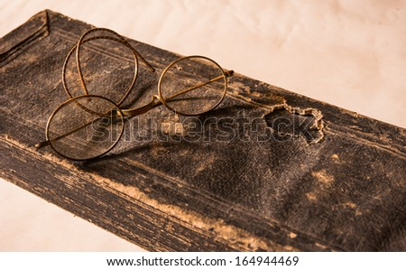 Hand Written Ancient Treatise of Lanna character with very old g - stock photo