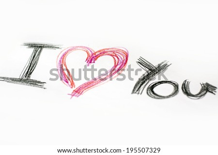 Hand written love you letters  - stock photo