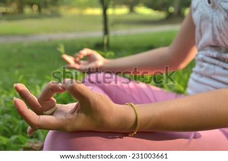 hand Yoga relaxation