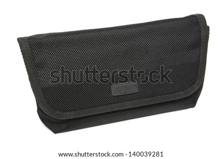 Handbag case for accessories isolated on white background