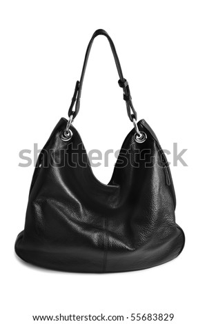 Handbag isolated over white background - stock photo