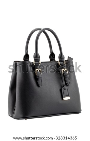 Handbag isolated white background, clipping part