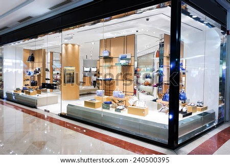 handbag retail fashion store  - stock photo