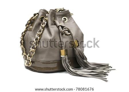handbags isolated on white background - stock photo