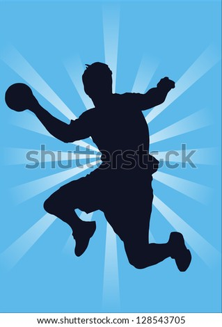 handball player - stock photo