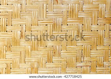 Handcraft bamboo weave texture. - stock photo