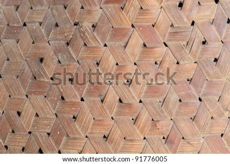 handcraft bamboo wood weave texture - stock photo